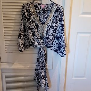 Lilly Pulitzer belted caftan dress